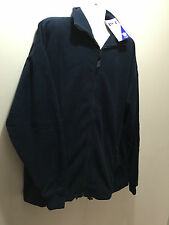 BNWT Mens Sz 3XL/ Ladies Sz 24 LW Reid Navy Blue Polar Fleece Zip Front Jacket