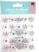 JOLEE'S BOUTIQUE 3D STICKERS - SNOWFLAKES REPEATS white & silver Christmas