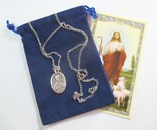 St. Valentine Saint Medal with 24 Inch Necklace