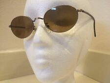 Calvin Klein Oval Sunglasses Tortoise Shell Arms Bronze 123S 48-20145 Italy
