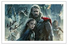 CHRIS HEMSWORTH & NATALIE PORTMAN THOR 2 THE DARK WORLD SIGNED PHOTO PRINT