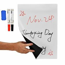"""17"""" x 11"""" Dry Erase Magnetic Refrigerator Flexible White Board Planner Message"""