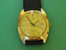 Nice Vintage TIMEX Gold Tone Automatic Men's Watch w/Date