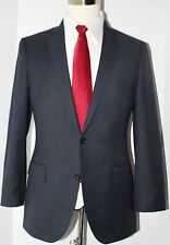 J. Crew Ludlow Blue Side Vented Two Button Wool Suit 38 R Slim 36 30 Flat 38R