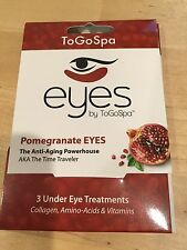 EYES by ToGoSpa POMEGRANATE Gel Eye Pads 3 Pairs To Go Spa - Brand New
