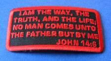 JOHN 14:6 BIBLE VERSE CHRISTIAN JESUS RELIGIOUS BIKER IRON ON PATCH
