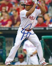 Signed  8x10 BEN REVERE Philadelphia Phillies Autographed photo - COA