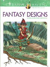 Fantasy Designs - A Creative Haven Adult Coloring Book from Dover Publications