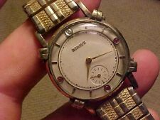 VINTAGE MANS WRISTWATCH - BENRUS WITH JEWELED DIAL - 17J