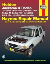 Holden Rodeo 2WD & 4WD TF Petrol Workshop Repair Manual 1991-2002 with MPN 41753