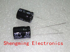 100pcs 470uF 35V Electrolytic Capacitor 35V470UF 10x13mm