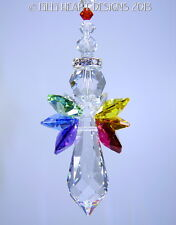 m/w Swarovski Crystal Quad Rainbow Winged Angel SunCatcher Lilli Heart Designs