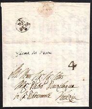 PREFILATELICA  REPUBBLICA VENEZIA 1781 da Verona a VE Ferma in Posta SPL