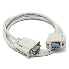 5FT VGA 9 Pin Female to Female Cable Cord 9Pin DB9 F/F