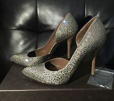 Nude $1.8 GUCCI Swarovski Crystals Strass d'Orsay Almond Pointy Toes Heels 39