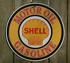 Metal Tin Sign Retro Oil Vintage Garage Shell Gas station Wall Home Decor New