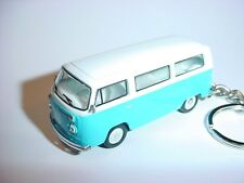 NEW 3D BLUE/WHITE VOLKWAGEN BUS CUSTOM KEYCHAIN KEY CHAIN keyring VW 70 type 2