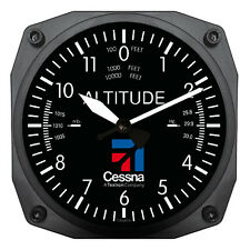 "Trintec 6"" Cessna Altimeter Instrument Style Clock 9060-CES Great Aviation Gift"