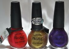 Nicole By OPI Kardashian Nail Lacquer Lot of 3 Glamorous Summer collection NEW
