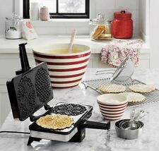 Non stick Pizzelle Baker Waffle Maid Cookie Maker Dessert Machine Iron Cook Chef