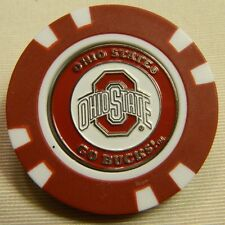 NCAA Ohio State Buckeyes Magnetic Poker Chip removable Golf Ball Marker