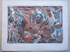 Bertholle - litho signée numérotée/190 - Benezit - Abstrait Postcubisme chevaux