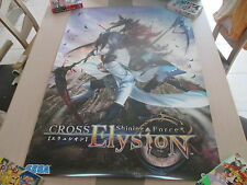 SHINING FORCE CROSS ELYSION SEGA ARCADE B1 SIZE OFFICIAL POSTER!