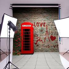 3x5ft Brick Wall Valentine's Day Photography Backdrop Photo Background Prop