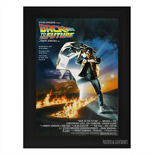 BACK TO THE FUTURE Framed Film Movie Poster A4 Black Frame Michael J Fox