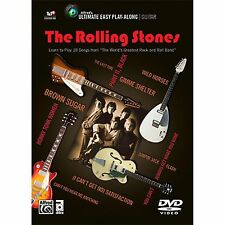 The Rolling Stones Ultimate Easy Guitar Play Along 10 Songs! DVD NEW!