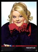 Tine Wittler RTL Autogrammkarte Original Signiert ## BC 34691