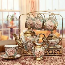 Vintage Duchess Style Fine Bone China TEA CUP & Pot SET 15 Piece