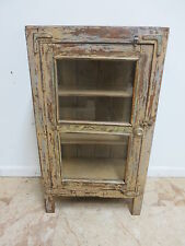 Antique Primitive architectural salvage pie safe cupboard cabinet shelf curio J