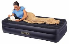 Intex Pillow Rest Twin Airbed with Built-in Electric Pump, Air Mattress, New