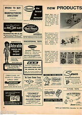 1967 ADVERT Buddy L Toy Desert Rat Jeep Monogram Navy Grumman F3F-3 Airplane