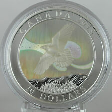 2015 $20 Story of the Northern Lights: The Raven - 99.99% Pure Silver Hologram