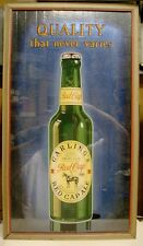 1930's Carling's Red Cap Ale Reverse On Glass Framed Sign - Cleveland, OH