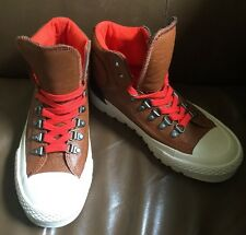 Converse Chuck Taylor All-Star Brown Leather High Top Sneakers Mens 6/Womens 7.5