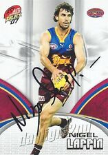 ✺Signed✺ 2007 BRISBANE LIONS AFL Card NIGEL LAPPIN