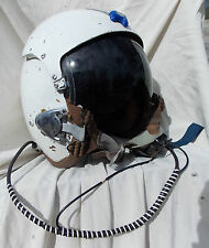 USN USMC Jet Fighter Pilot Flight Helmet Type APH-5,Large,1960's,Chin Mike, WOW!