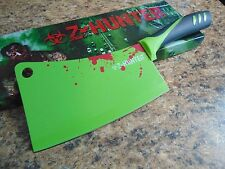 Z-Hunter Zombie Meat Cleaver Green With Red Blood Splatter Kitchen ZB-148GN