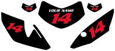 "2012-2017 HONDA CRF250 ""L"" Custom Pre-Printed Backgrounds Black with Red Numbers"