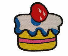Funky Cupcake Frosting Cute Iron Sew On Patch Great for Craft or Sewing Ideas