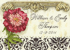 Cross Stitch Mini Kit ~ Gold Collection Floral Elegant Wedding Record #70-65138