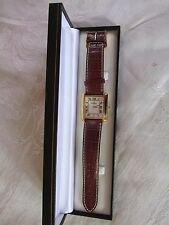 Vintage Mens Michel Herbelin Paris wristwatch watch with date Working Well