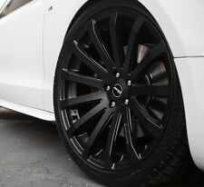 "18"" MRR HR9 Wheels For Audi A4 Quattro VW Passat CC 18x8.5 Black rims set (4)"