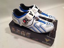 Vittoria Hora Road Cycling Shoes 43 EU 10.5 US white-blue micrometric cable