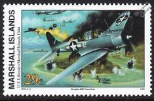 1944 US LIBERATES MARSHALL ISLANDS Douglas SBD DAUNTLESS Aircraft WWII Stamp