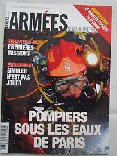 REVUE ARMEES D'AUJOURD'HUI 330 POMPIERS PARIS LOGISTIQUE EUFOR SIMULATEUR RAFALE