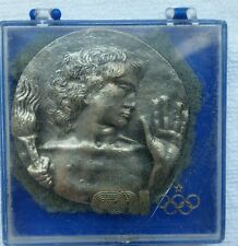 Vintage Italian National Olympic Committee Coin w/Case Greco Italy Rome